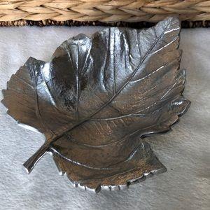 Martha Stewart Metalware Leaf Dish